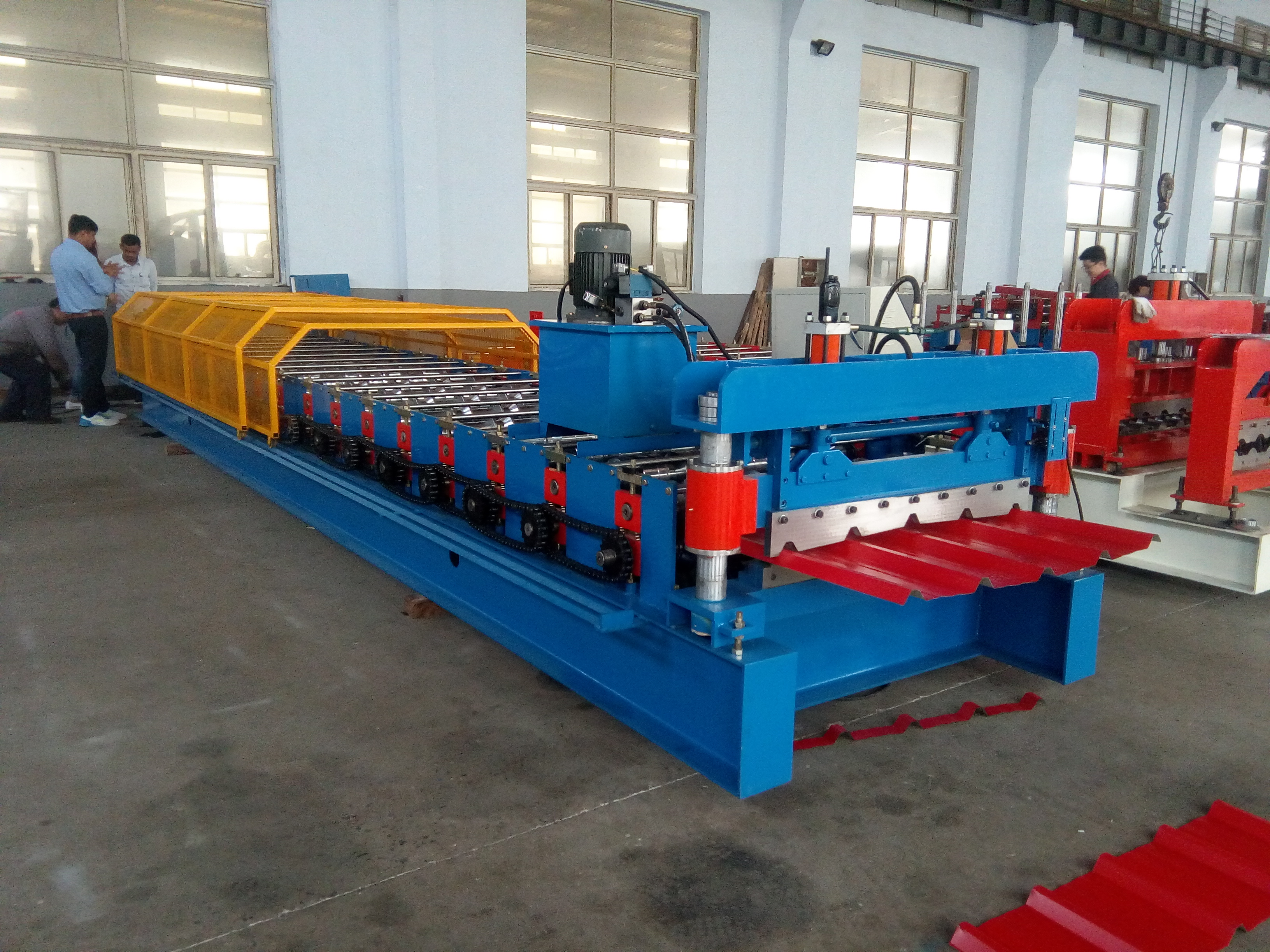 India standard roof profile roll forming machine
